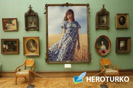 Фоторамка psd - Ваша картина в галерее