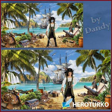 Шаблон для девочки - Принцесса пиратов