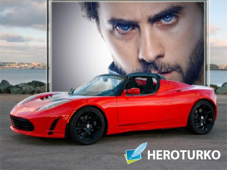 Рамка для фотошопа - Автомобиль Тесла
