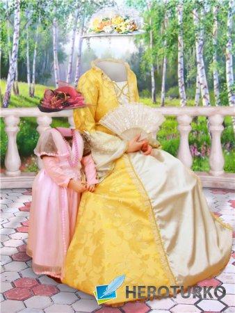 Парный шаблон для фотошопа – Две прекрасные леди