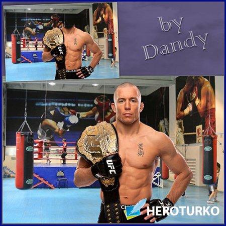 Шаблон для мужчины - Чемпион кикбоксинга