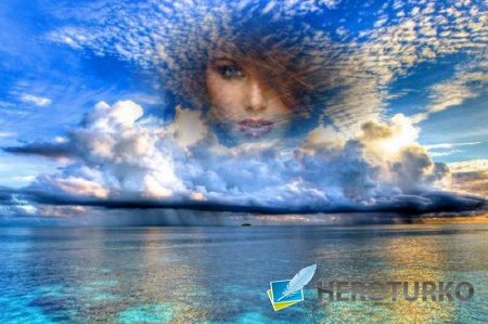 Фото рамка - Морское небо