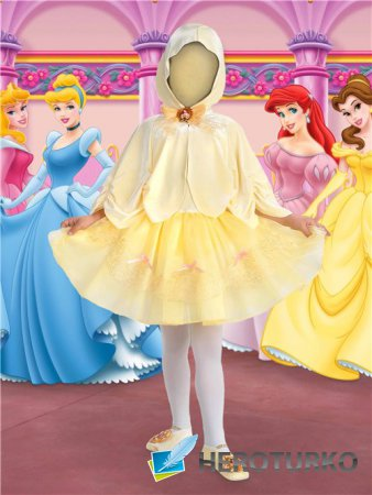 Фотошоп шаблон для девочек – Барби
