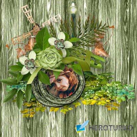 Цветочный скрап-набор - A small feeling of warmth