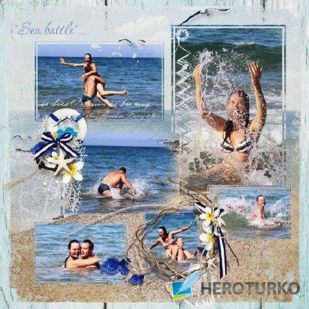 День на песчаном пляже Скрап-коллекция