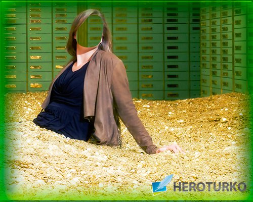 Фотошаблон - В банке полном денег