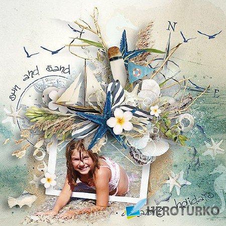 Море, лето, романтика - скрап комплект
