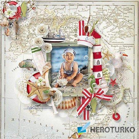 Запечатлеем приключения на море Скрап-коллекция