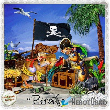 В роли маленького пирата - скрап - набор