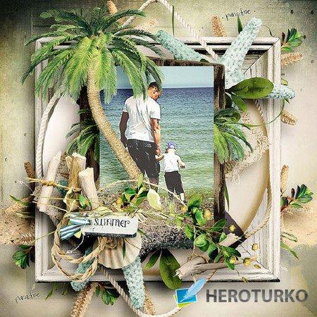 Летом в райских тропиках - скрап