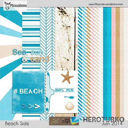 Маленький скрап - комплект - Пляжные элементы