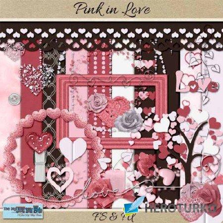 Любовь и нежно-розовый  - Скрап для обработки Фото