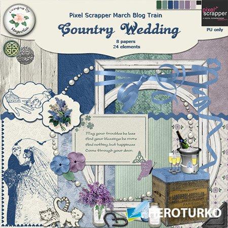 Свадебное угощение - скрап-композиции