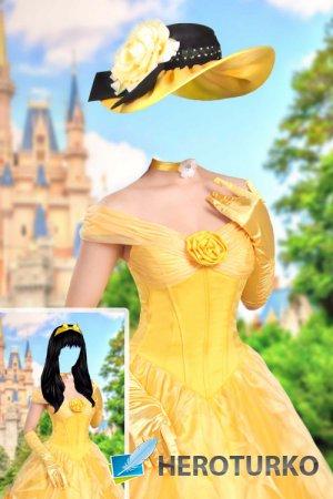 Шаблон для фотошопа женский – Принцесса Бель