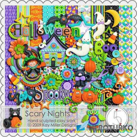 Детский скрап набор - Страшные ночи