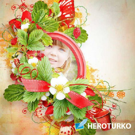Цветочный скрап-набор - Сладкое клубничное лето