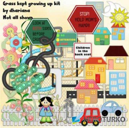 Детский скрап-набор - Grass Kept Growing Up