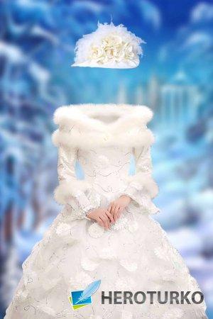 Женский шаблон для фотошопа – Зимний бал