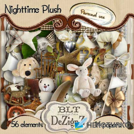 Детский скрап-набор - Nighttime Plush
