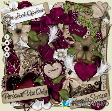 Романтический скрап-набор - Взгляд любви