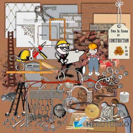 Строительный скрап-набор - Строительство