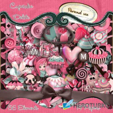 Детский скрап-набор - Cupcake Delite