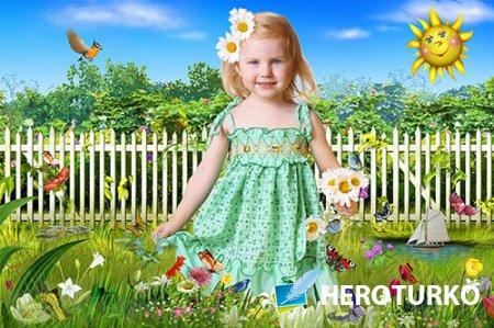 Рамка детская Летняя поляна