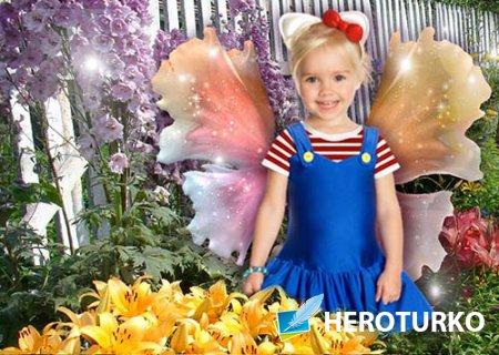 Рамка детская Бабочка в саду