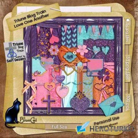 Романтический скрап-набор - Любите друг друга