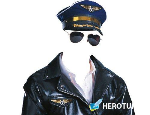 Фотошаблон для монтажа - Американский летчик