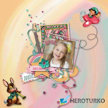 Детский скрап-набор - Влюблённый в музыку
