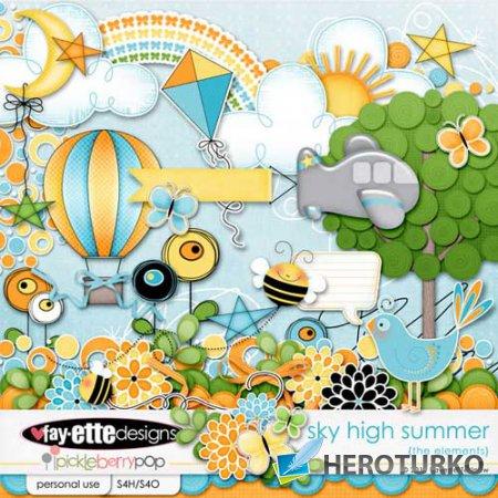 Детский скрап-набор - Sky High Summer