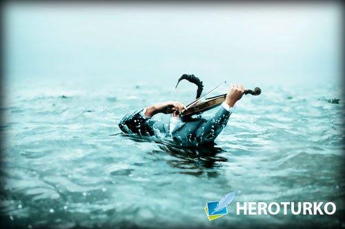 Шаблон фотошоп мужской - Скрмпач в озере