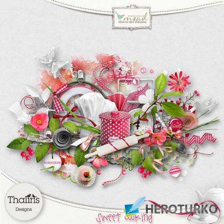 Цветочный скрап-набор - Sweet Cooking