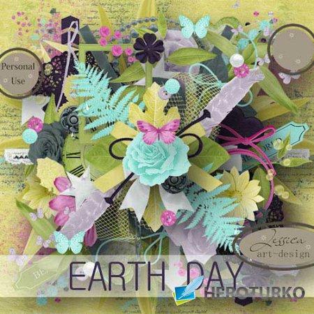 Цветочный скрап-набор - Земные сутки
