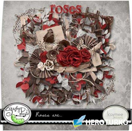 Цветочный скрап-набор - Розы