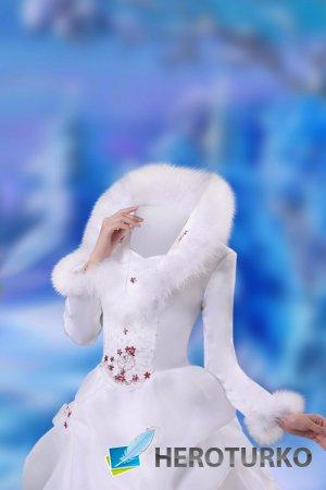 Женский шаблон для фотошопа – Белоснежная красавица