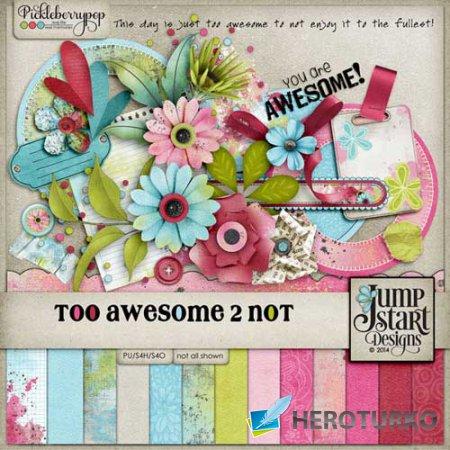 Цветочный скрап-набор - Too Awesome 2 Not