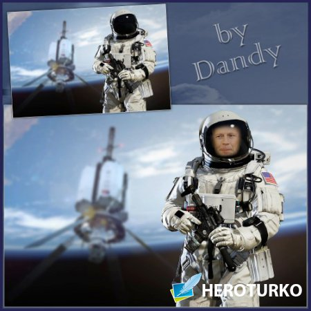 Шаблон для фотошопа - Космический спецназ