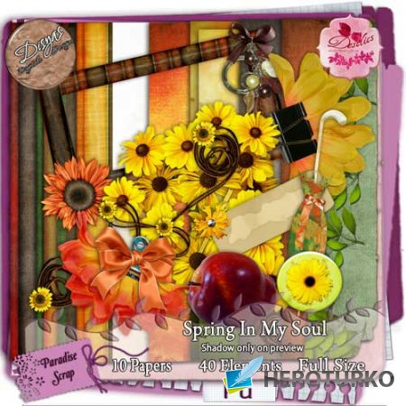 Цветочный скрап-набор - Весна в моей душе