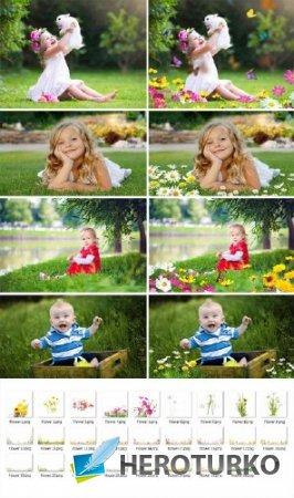 Фото оверлеи для фотошопа - Цветы