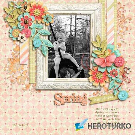 Цветочный скрап-набор - Spring Fling
