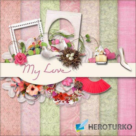 Скрап-набор - Моя любовь