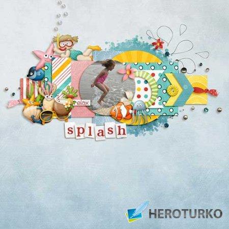 Детский скрап-набор - Дети на пляже: Подводное царство