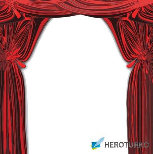 Фотошоп png - Красные шторы