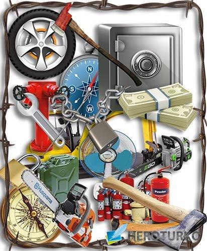 Новая база png на прозрачном фоне - Топоры, пилы, электропилы, ключи, огнетушители, иглы