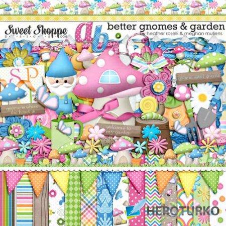Детский скрап-набор - Гномы садовники