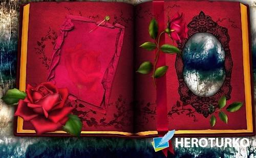 Рамка photoshop - В красной книге
