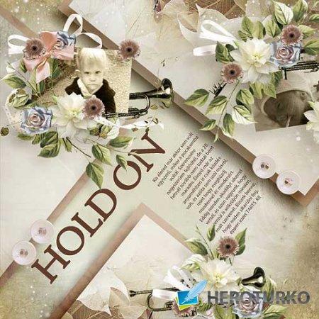 Винтажный скрап-набор - Hold On