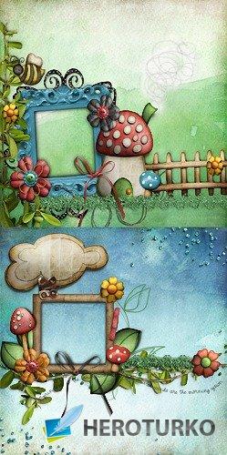 Детская фоторамка - В грибах
